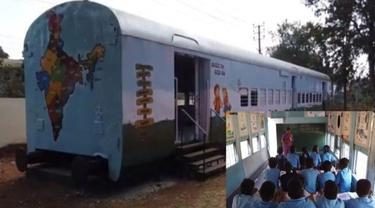 Unik, Sekolah di India Renovasi Kereta Tua Menjadi Ruangan Kelas yang Luar Biasa
