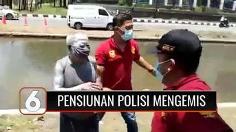 VIDEO: Viral, Pensiunan Polisi Jadi Manusia Silver dan Mengemis, Minta Maaf Usai Terjaring Razia