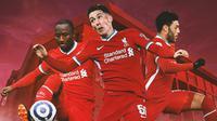 Liverpool - Naby Keita, Harry Wilson, Alex Oxlade-Chamberlain (Bola.com/Adreanus Titus)