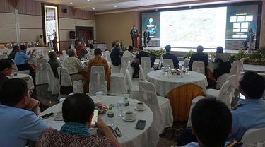 Seminar Nasional Propelan yang diadakan PT Pindad (Persero) di Graha Pindad, Jalan Gatot Subroto, Bandung, Rabu, (9/5/2018). (Huyogo Simbolon/Liputan6.com)