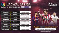 Liga Spanyol pekan 11 dapat disaksikan melalui platfrom streaming Vidio. (Sumber: Vidio)