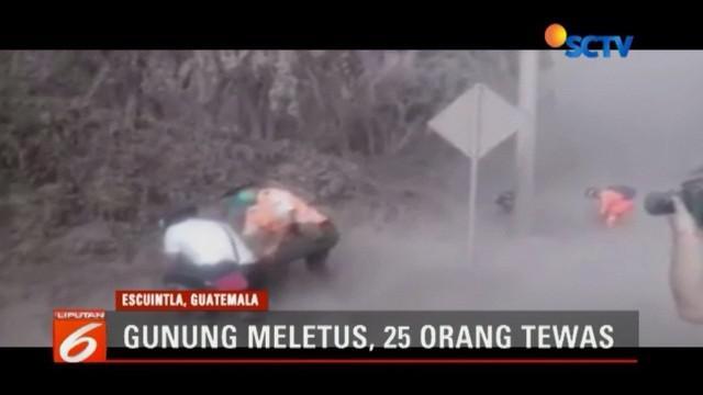 Hingga hari Senin setidaknya 25 orang tewas dan 3200 orang mengungsi.