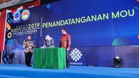 Penandatanganan Memorandun of Understanding (Mou) antara Kemnaker dan Kemenhan dilakukan oleh Menteri Tenaga Kerja Ida Fauziyah dengan Wakil Menteri Pertahanan, Sakti Wahyu Trenggono.