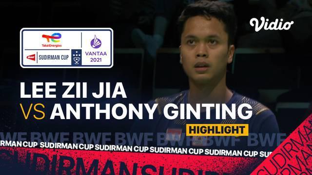 Berita video highlights laga tunggal putra pada babak perempat final Piala Sudirman 2021 antara Tim Indonesia melawan Malaysia, di mana Anthony Ginting menelan kekalahan, Jumat (1/10/2021) malam hari WIB.