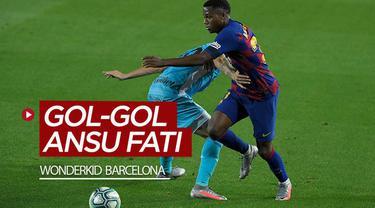 Berita video torehan gol-gol yang dicetak wonderkid Barcelona, Ansu Fati setelah ia membobol gawangn Leganes.