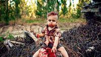 Bukan tanpa alasan mengapa wanita ini memilih tema zombie untuk pemotretan anak pertamanya dan ternyata alasannya sangat mengharukan. (Foto: Amanda Queen Photography / Caters)