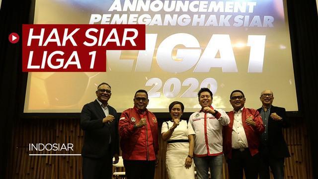 Berita video pengumuman pemegang hak siar Liga 1 2020 yaitu dari Emtek Group. Total 306 laga ditayangkan di Indosiar, O Channel, dan Vidio.