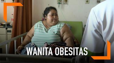 Tak hanya Titi Wati, seorang wanita asal Karawang bernama Sunarti juga alami obesitas dan perlu bantuan.