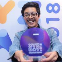Aulion bangga bisa mendapatkan penghargaan di ajang XYZ Day 2018. (Adrian Putra/Bintang.com)