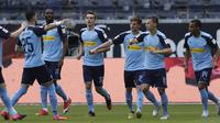 Alassane Plea bersama skuad Borussia Monchengladbach. (Istimewa)