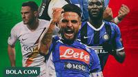 Serie A - Romelu Lukaku, Lorenzo Insigne, Jordan Veretout, Ciro Immobile, Cristiano Ronaldo (Bola.com/Adreanus Titus)