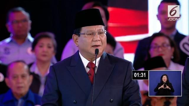 Pada debat capres cawapres, Prabowo menyebut akan menghukum koruptor di pulau terpencil demi membuat efek jera.