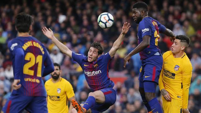 Pemain Barcelona Sergi Roberto