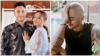 Penampilan terbaru suami Siti Badriah dengan kepala plontos. (Sumber: Instagram/@krisjianabah/@sitibadriahh)