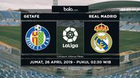 La Liga - Getafe Vs Real Madrid (Bola.com/Adreanus Titus)