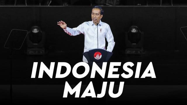 Presiden terpilih Jokowi menyampaikan pidato visi dan misi pemerintahan lima tahun ke depan di Visi Indonesia, Sentul International Convention Center (SICC) Bogor, Jawa Barat, Minggu (14/7/2019).