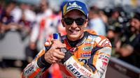 Pembalap Repsol Honda, Marc Marquez akan memulai balapan MotoGP Jerman 2018 di Sirkuit Sachsenring. (Twitter/Repsol Honda)