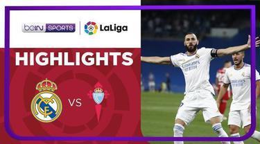 Berita video gol-gol yang tercipta pada laga pekan keempat Liga Spanyol (LaLiga) 2021/2022, Real Madrid kontra Celta Vigo, di mana Karim Benzema mencetak hattrick, Senin (13/9/2021) dinihari WIB.