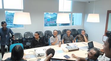 Tim Kuasa Hukum Prabowo-Sandiaga menyambangi kantor LPSK, Sabtu (15/6/2019).