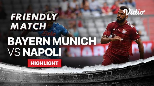 Berita video highlights laga persahabatan, Bayern Munchen dibungkam Napoli dengan skor 0-3, Sabtu (31/7/2021) malam hari WIB. Hasil tersebut membuat Julian Nagelsmann belum juga antarkan kemenangan untuk FC Hollywood.