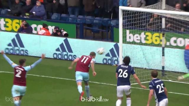 Burnley sukses taklukkan tuan rumah West Bromwich Albion dengan skor tipis 2-1 pada laga Sabtu (31/3). Ashley Barnes mencetak gol ...