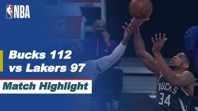 Berita video highlights NBA 2020/2021 antara LA Lakers melawan Milwaukee Bucks yang berakhir dengan skor 97-112, Kamis (1/4/2021) pagi hari WIB.