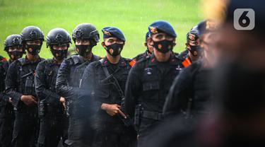 FOTO: Pasukan Gabungan Ikuti Apel Pengetatan PPKM Mikro DKI Jakarta