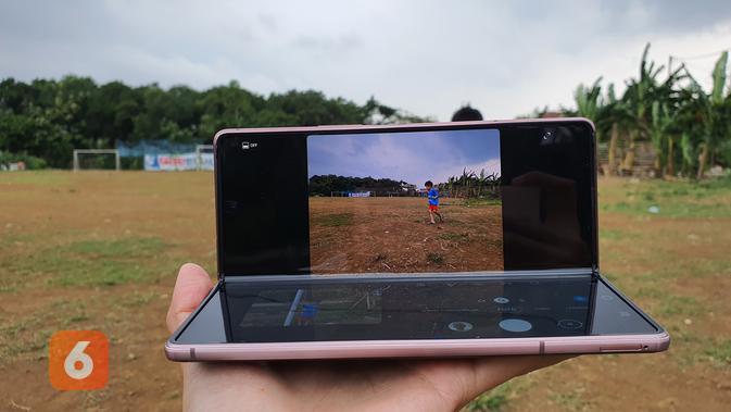 Kamera Z Fold 2 (Liputan6.com/ Agustin Setyo W)