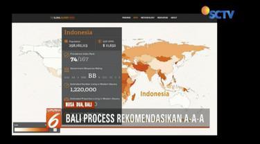 Bali Process Forum 2018 menghasilkan rekomendasi 3A (Acknowledge, Act, and Advance) untuk menghapus masalah perbudakan modern.