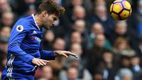 Bek sayap Chelsea asal Spanyol Marcos Alonso. (AFP/Paul Ellis)