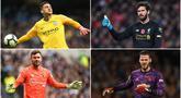 Penjaga gawang bisa dibilang adalah posisi yang memiliki tanggung jawab sangat besar sebagai tembok terakhir timnya agar tidak kebobolan. Berikut pesona 6 kiper terbaik di pentas Premier League. (Kolase foto AFP)