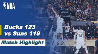 Berita video game 5 Final NBA 2021, di mana Milwaukee Bucks menang 123-119 atas Phoenix Suns di Footprint Center,  Arizona, Minggu (18/7/2021) pagi hari WIB.
