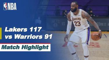 Berita Video Highlights NBA, LA Lakers Menang atas Golden State Warriors 117-91 (1/3/2021)
