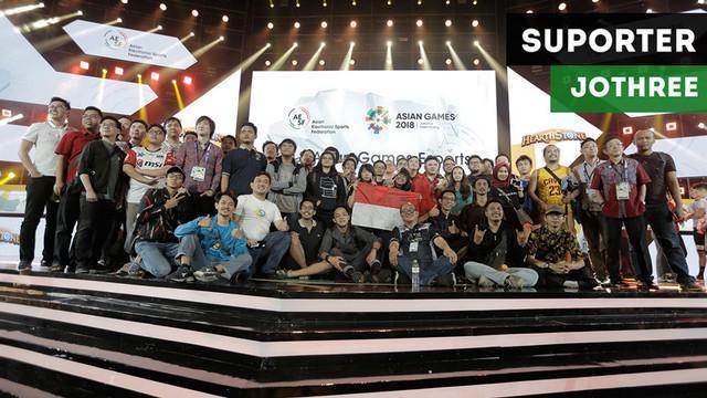 """Berita video komentar atlet E-Sport Indonesia di gim Hearthstone Asian Games 2018, Handisurya """"Jothree"""" Hendry, soal dukungan suporter yang hadir di venue Britama Arena."""