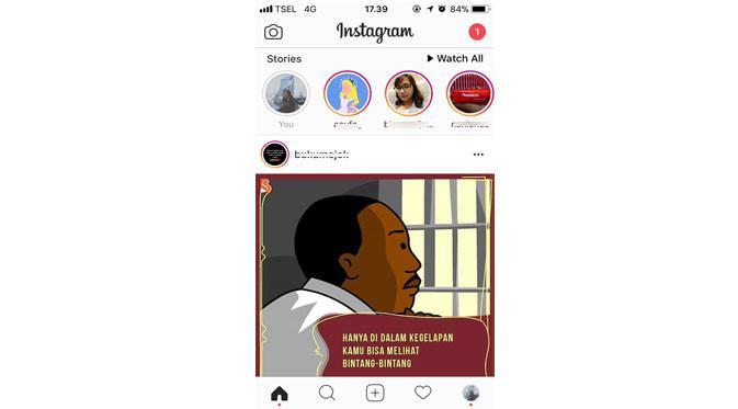 Tampilan feed Instagram (Foto: Ist)