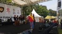 Anggota Paskibraka menari dalam ajang Apel kebangsaan. (Liputan6.com/Aditya Eka Prawira)