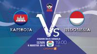 Kamboja Vs Indonesia AFF U-16 2018.