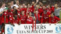 Liverpool memenangkan Piala Super Eropa 2005. (AFP/Pascal Guyot)
