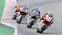 Andi Gilang saat mengikuti balapan Moto2 2020 di Sirkuit Catalunya, Barcelona, 27 September 2020. (Istimewa)