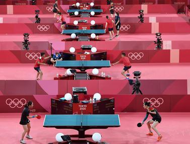 FOTO: Sesi Latihan Pemain Tenis Meja Dunia Jelang Olimpiade Tokyo 2020