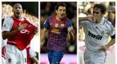 Duet Lionel Messi dan Cristiano Ronaldo dalam satu dekade terakhir terpilih menjadi penerima trofi Ballon d'Or. Banyak pemain hebat yang tak beruntung bisa mengangkat trofi yang mulai diperebutkan sejak 1956 ini hingga mereka pensiun. Berikut 5 di antaranya. (Kolase Foto AFP)