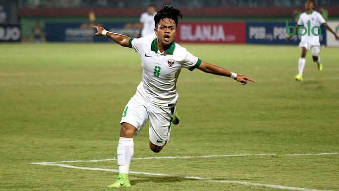 Pemain Timnas Indonesia U-16, Andre Oktaviansyah, di Piala AFF U-16 2018. (Bola.com/Aditya Wany)