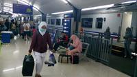 Suasana di Stasiun Malang masih lenggang dari kepadatan penumpang pada arus mudik lebaran 2019 (Liputan6.com/Zainul Arifin)