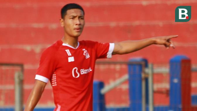 Gelandang Persik Kediri, Adi Eko Jayanto. (Bola.com/Gatot Susetyo)