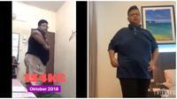 Pria Diet Dengan Ngedance Lagu K-Pop Ini Sukses Bikin Netizen Kagum (sumber:Twitter/@wawanxz_)