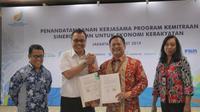 PT Angkasa Pura I (Persero) teken perjanjian kerja sama dengan PNM pada Selasa 19 Maret 2019 (Foto: Dok PT Angkasa Pura I)
