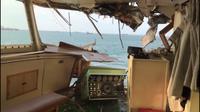 Kapal tabrakan di Selat Sunda (Liputan6.com/ Yandhi Deslatama)