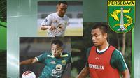 Persebaya Surabaya - Arif Munip, Rendi Irwan, Arif Satria (Bola.com/Adreanus Titus)