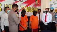 Polsek Pasar Kemis, Polres Kota Tangerang, tangkap pelaku pencurian dengan kekerasan.