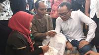 Menteri Tenaga Kerja Hanif Dhakiri di Pusat Pengembangan Kewirausahaan (PPK) Sampoerna Expo 2017, Taman Krida Budaya Kota Malang, Sabtu (14/10/2017).